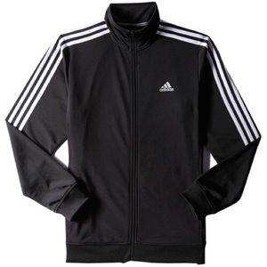 NWT Men Adidas Black/White Tricot Track Jacket 2xl
